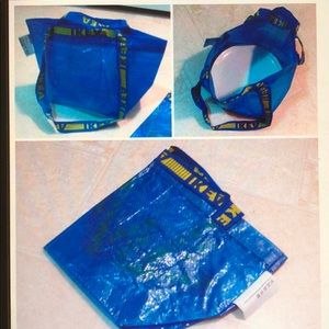 2 small blue reusable IKEA bag - NWT